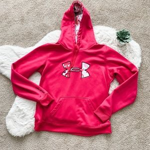 Under Armour Hot Pink Ling Sleeve Hoodie- Large